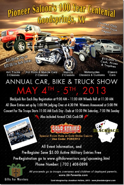 Gifts for Warriors, Bike Show, Poker Run