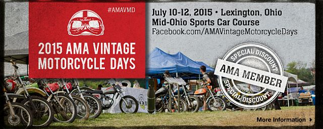 2015 AMA Vintage Motorcycle Days