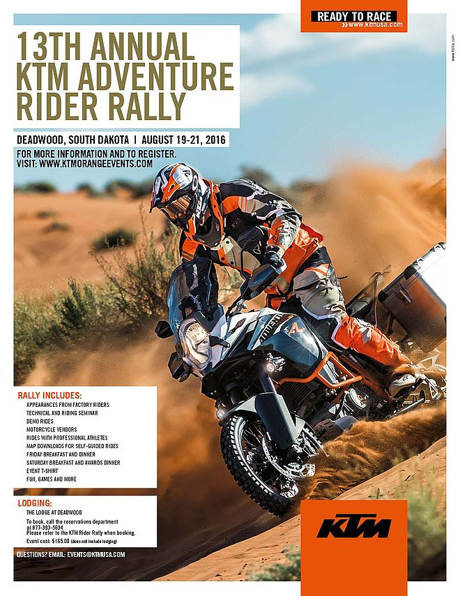 13th Annual KTM Adventure Rider Rally