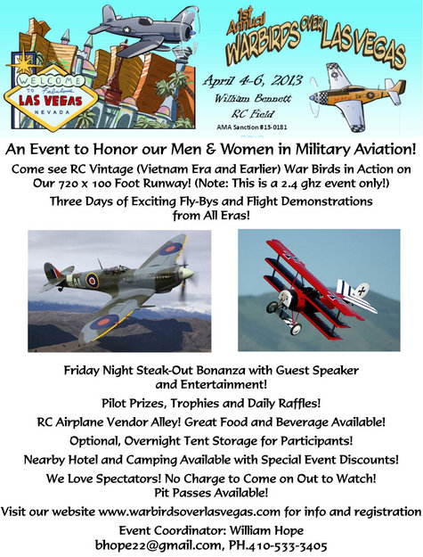 Radio Controlled Aircraft Club Event, VFW